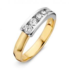 Ring bicolor briljant 0.41 crt.