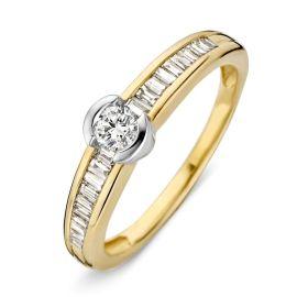 Ring bicolor briljant 0.42 crt.