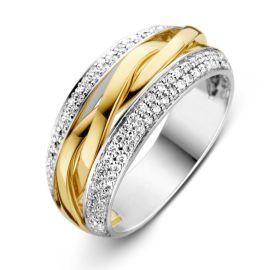 Ring bicolor briljant 0.45 crt.