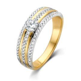 Ring bicolor briljant 0.47 crt.