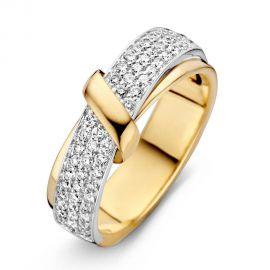 Ring bicolor briljant 0.49 crt.