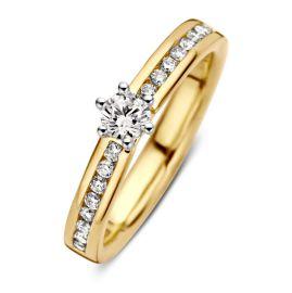 Ring bicolor briljant 0,50 crt.