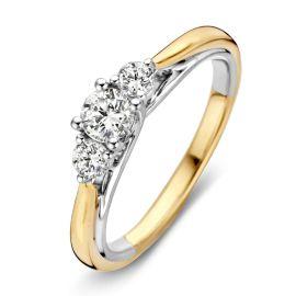 Ring bicolor briljant 0,51 crt.
