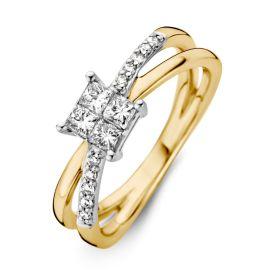Ring bicolor briljant 0.52 crt.