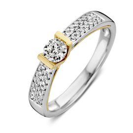 Ring bicolor briljant 0,52 crt.