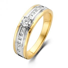 Ring bicolor briljant 0.54 crt.