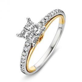 Ring bicolor briljant 0,55 crt.