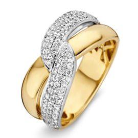 Ring bicolor briljant 0.61 crt.