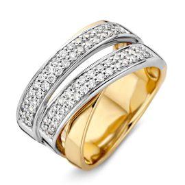 Ring bicolor briljant 0.62 crt.