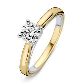 Ring bicolor briljant 0.74 crt.