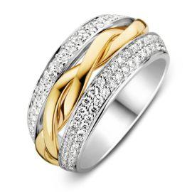 Ring bicolor briljant 0,87 crt.