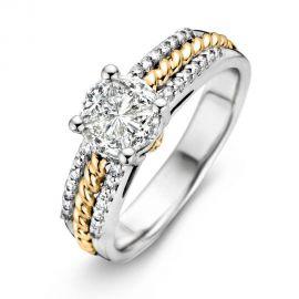 Ring bicolor briljant 0.88 crt.