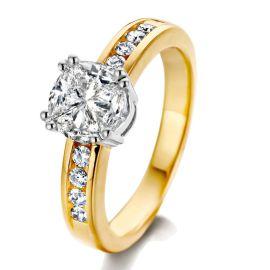 Ring bicolor briljant 1.25 crt.