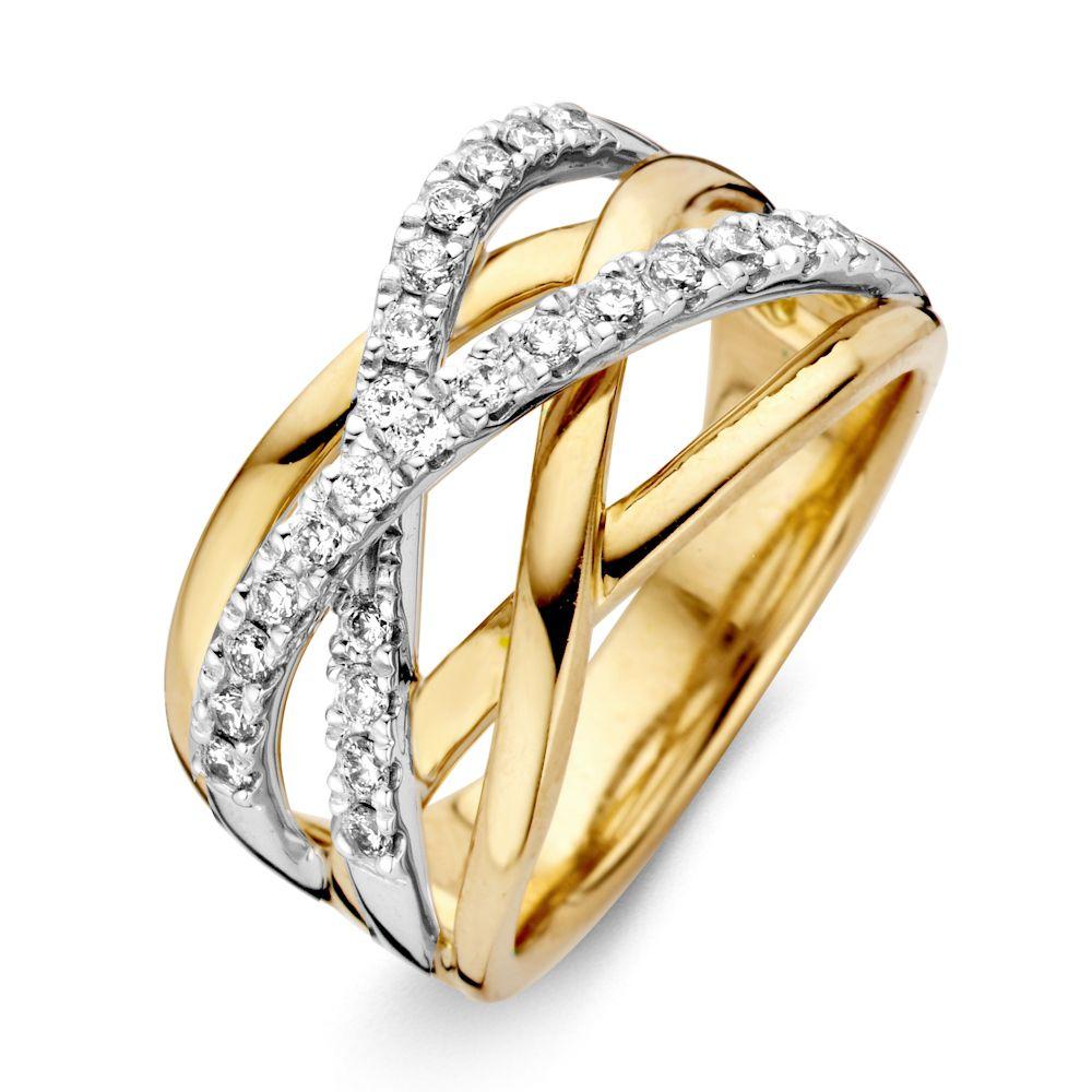 ring bicolor briljant 042 crt