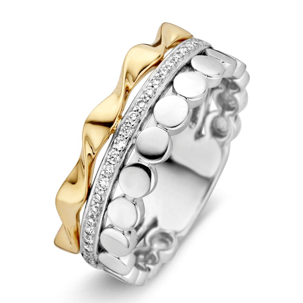 ring bicolor briljant 014 crt