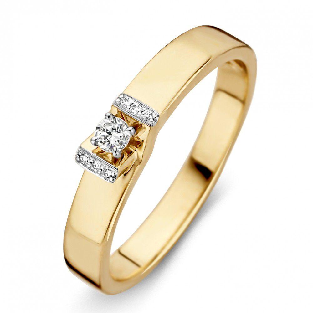 ring bicolor briljant 008 crt