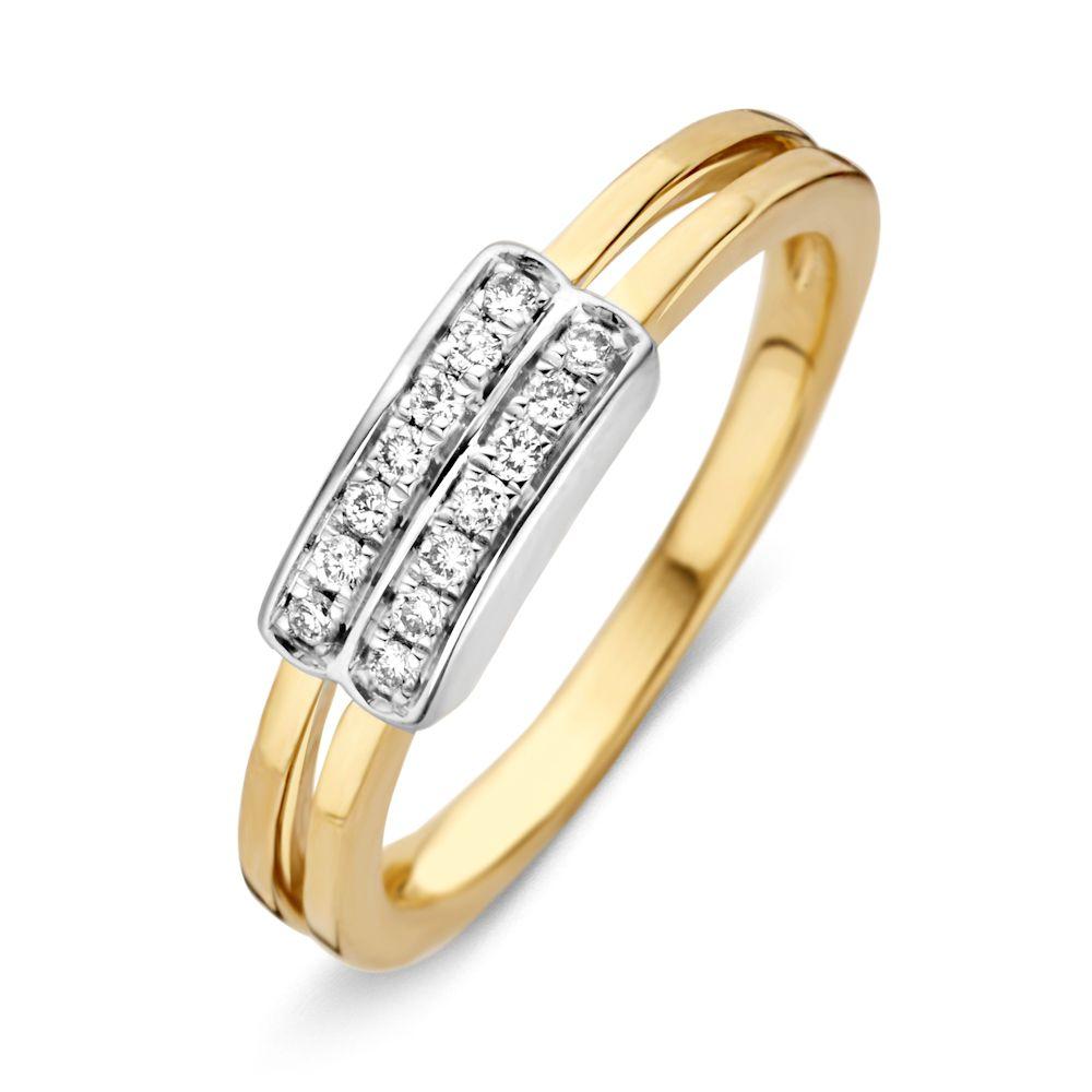 ring bicolor briljant 013 crt
