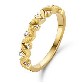 Ring geelgoud briljant 0.08 crt.