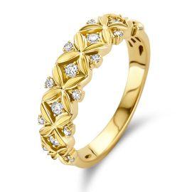 Ring geelgoud briljant 0.19 crt.