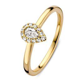 Ring geelgoud briljant 0.24 crt.