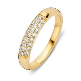 Ring geelgoud briljant 0.32 crt.