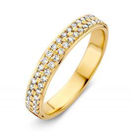 Ring geelgoud briljant 0.33 crt.