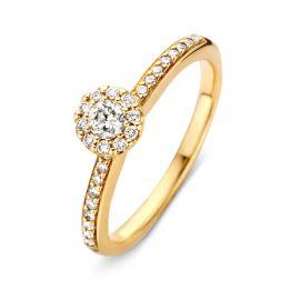 Ring geelgoud briljant 0,34 crt.