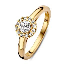 Ring geelgoud briljant 0.45 crt.