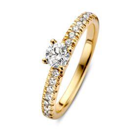 Ring geelgoud briljant 0.59 crt.