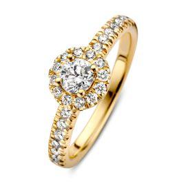 Ring geelgoud briljant 0.62 crt.