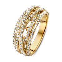ring geelgoud briljant 071 crt