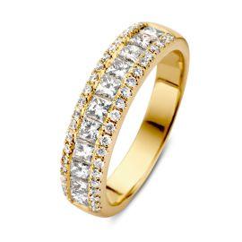 Ring geelgoud briljant 1.19 crt.