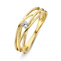 ring geelgoud zirkonia