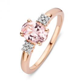 Ring roségoud morganiet + briljant