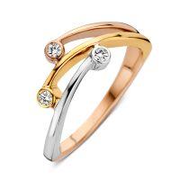 ring tricolor zirkonia