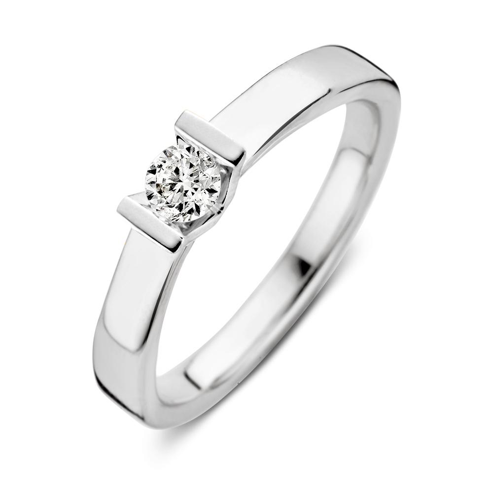 ring witgoud briljant 020 crt