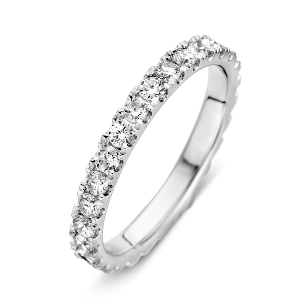 ring witgoud briljant 100 crt rondom