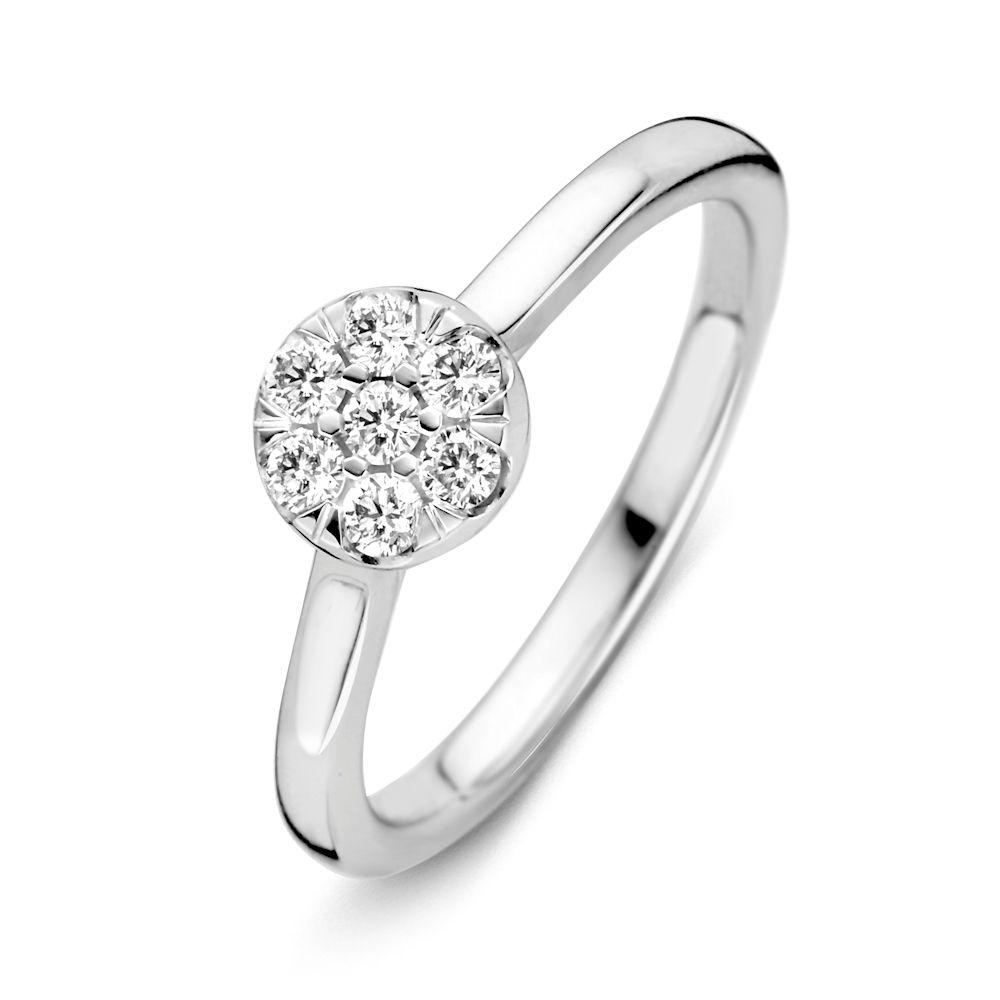 ring witgoud briljant 024 crt