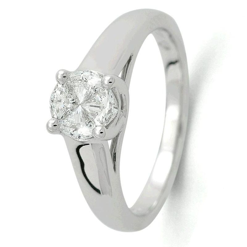 ring witgoud briljant 050 crt