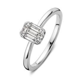 Ring witgoud diamant 0,26 crt.