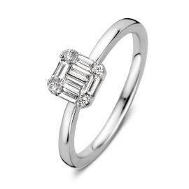Ring witgoud diamant 0,29 crt.