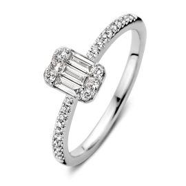 Ring witgoud diamant 0,38 crt.