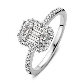 Ring witgoud diamant 0,50 crt