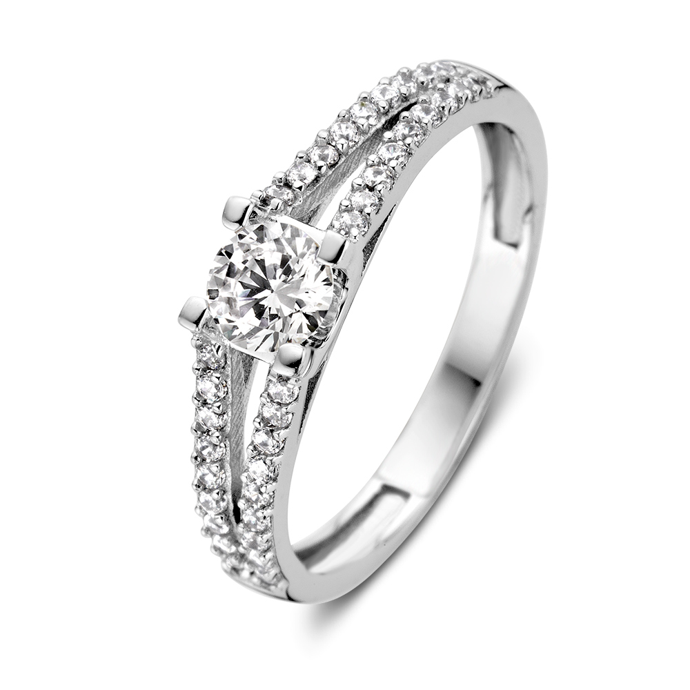 ring witgoud zirkonia