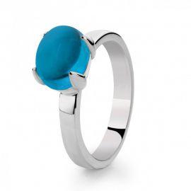 Ring zilver blauw topaas