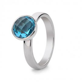 Ring zilver blauw topaas
