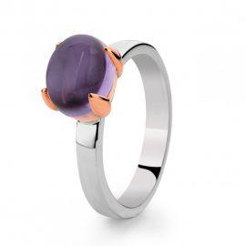 Ring zilver/goud amethist